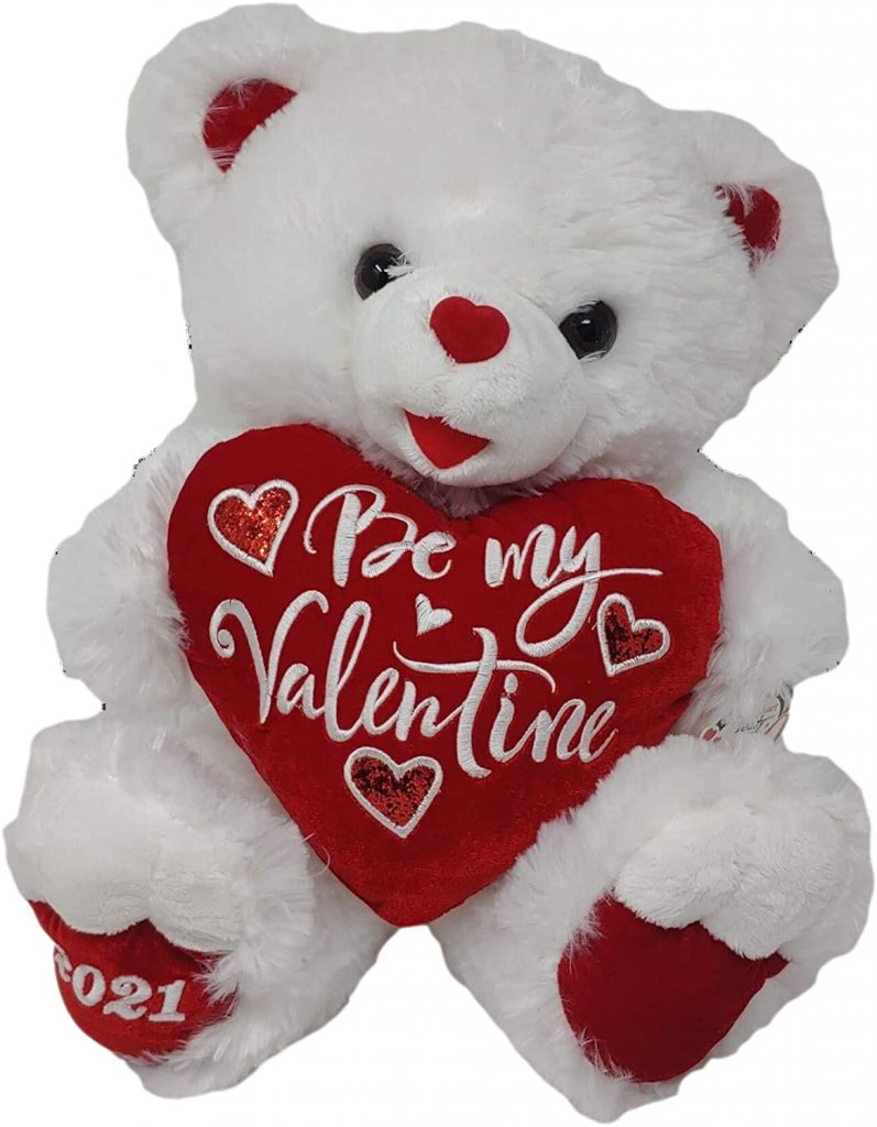 2021 Valentine's Day 30th Anniversary Sweetheart Teddy Bear 18 inch (White & Red)
