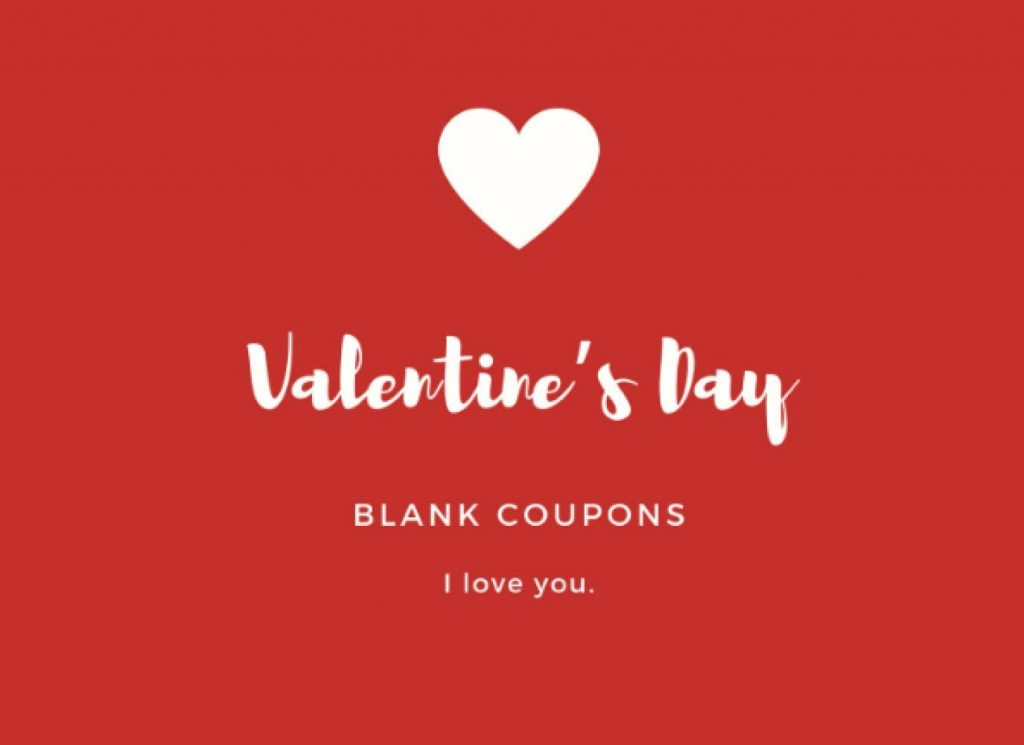 Blank Valentine's Day Coupons Voucher Books For Lovers Sexy Naughty Coupon