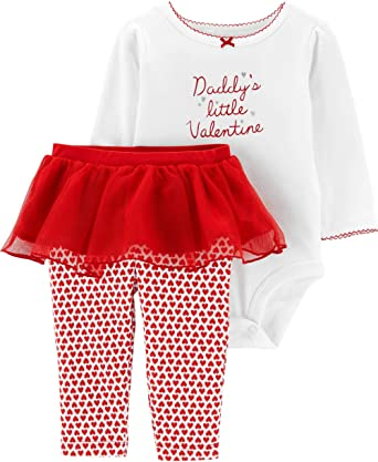 Carter's Baby Girls' 2-Piece Valentine's Day Bodysuit & Tutu Pant Set
