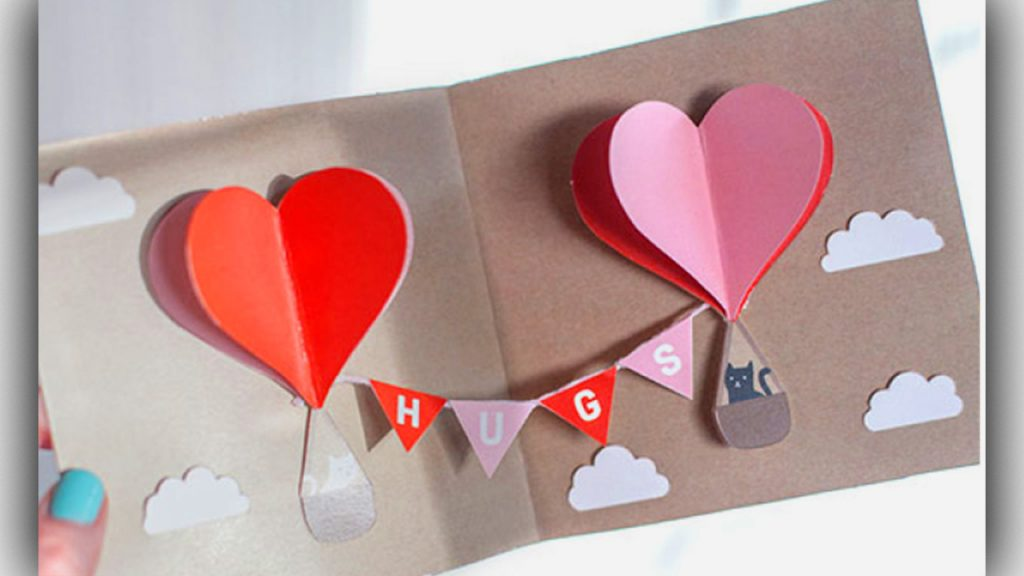 Cute and personal cardvalentine day surprise