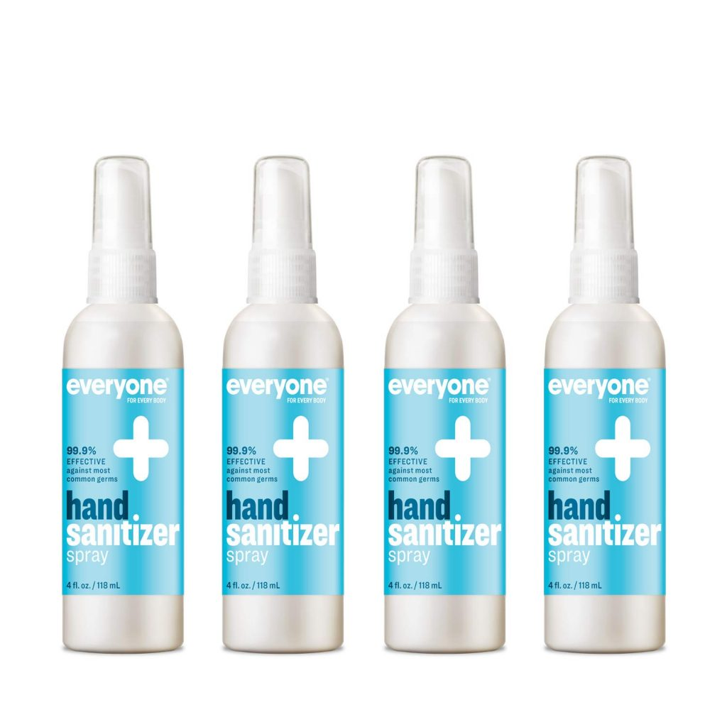Everyone Hand Sanitizer Spray, 4 Ounce, 4 Count Unscented 16 Fl Oz