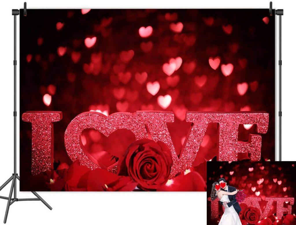 Floral Flower Romantic Valentine Love Backdrop