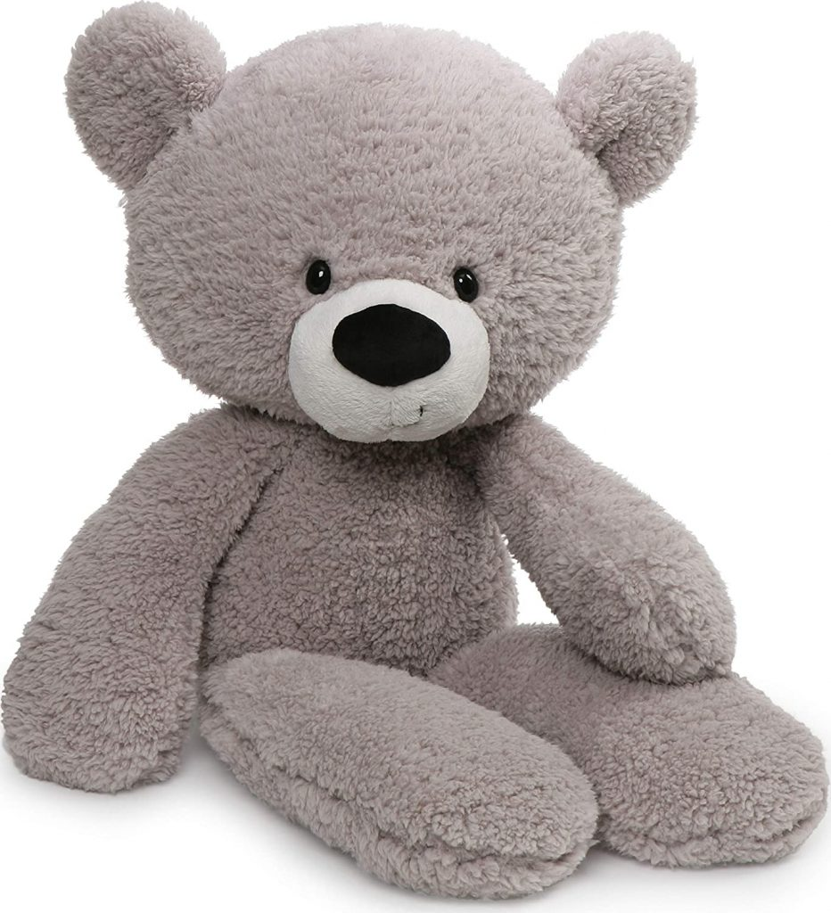 GUND Fuzzy Teddy Bear Stuffed Animal Plush, Gray, 24