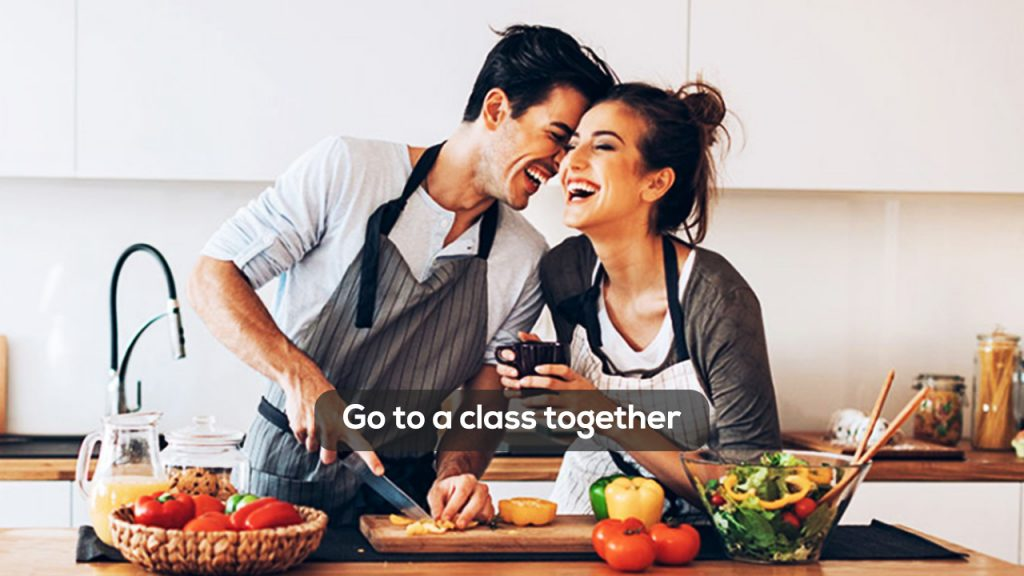 Go to a class together valentine day surprise