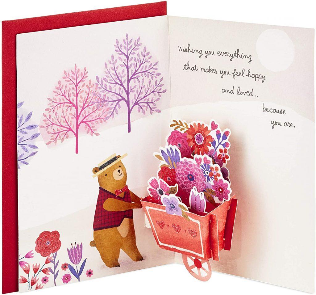 Hallmark Paper Wonder Pop Up Valentines Day Card for Anyone (Beary Loved Valentine)
