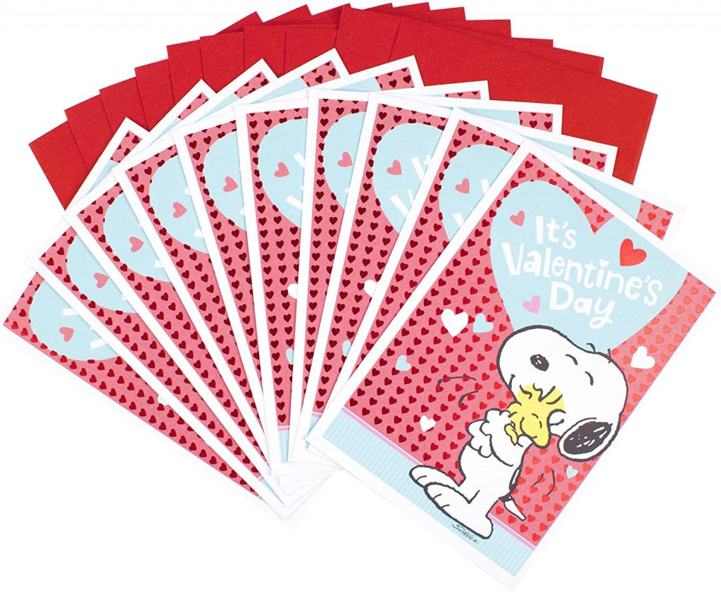 Hallmark Peanuts Valentines Day Cards Pack Snoopy and Woodstock