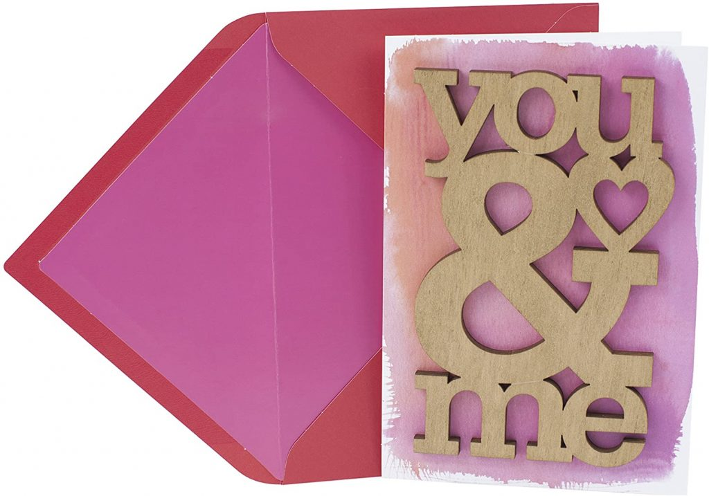 Hallmark Signature Valentine's Day Card for Significant Other (Laser-cut Wood You and Me)