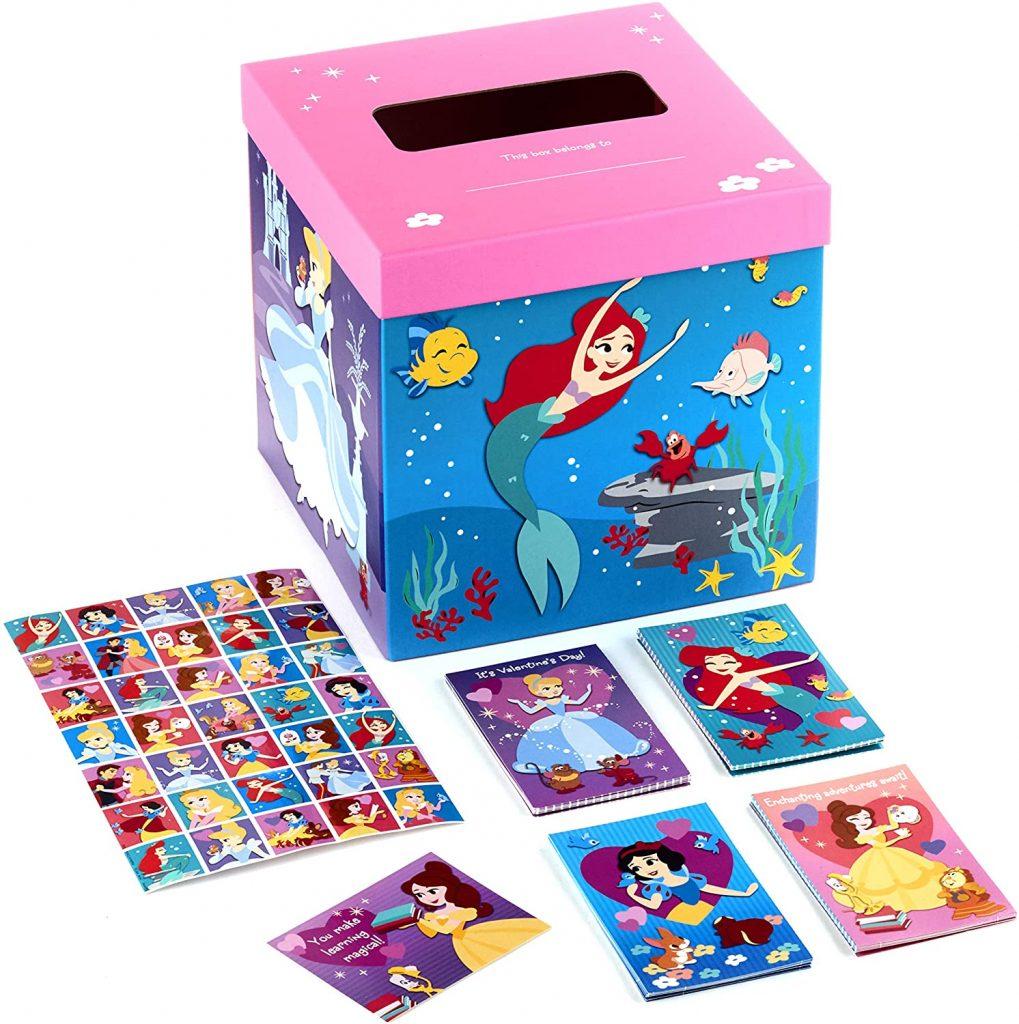 Hallmark Valentines Day Cards for Kids and Mailbox Disney Princess