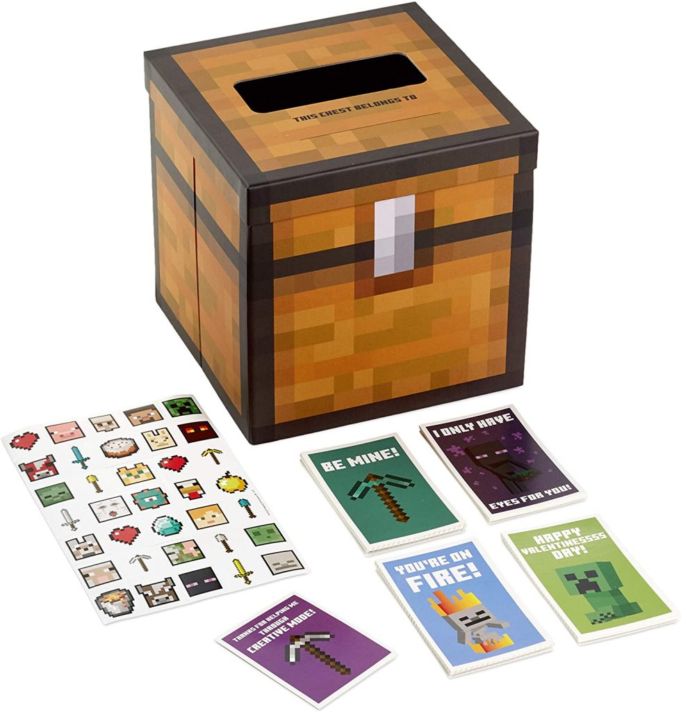Hallmark Valentines Day Cards for Kids and Mailbox Minecraft