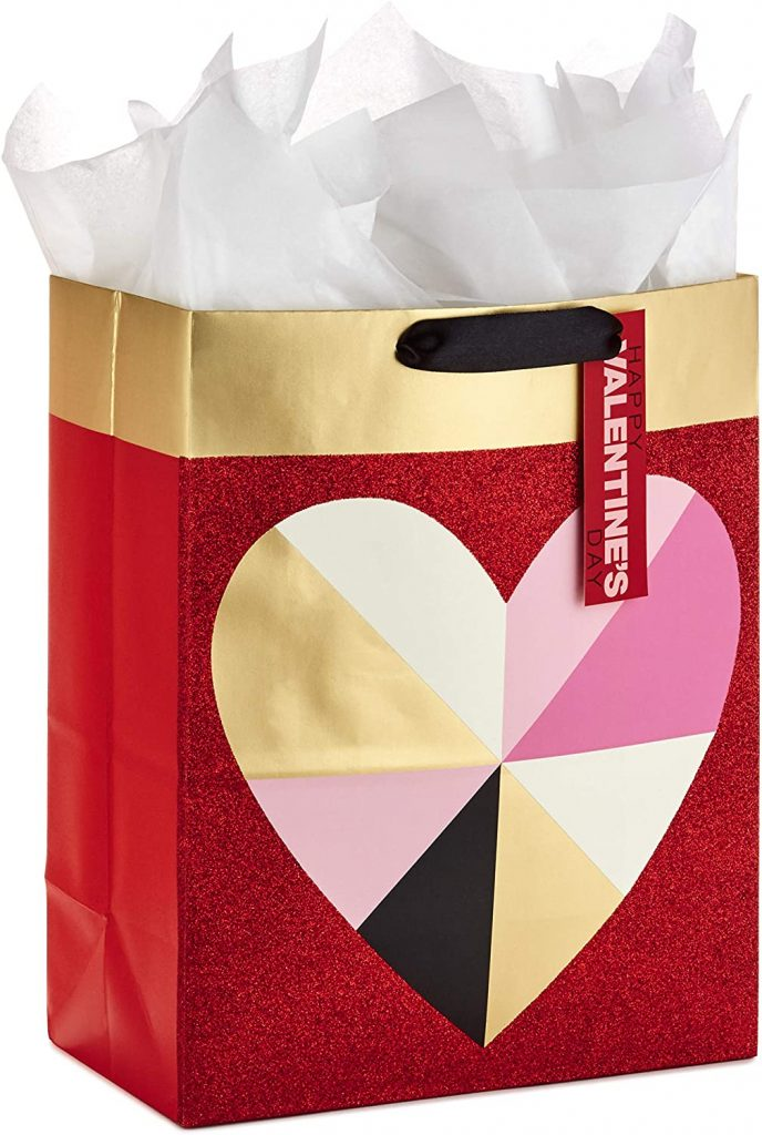 Hallmark Valentine's Day Gift Bag with Tissue Paper