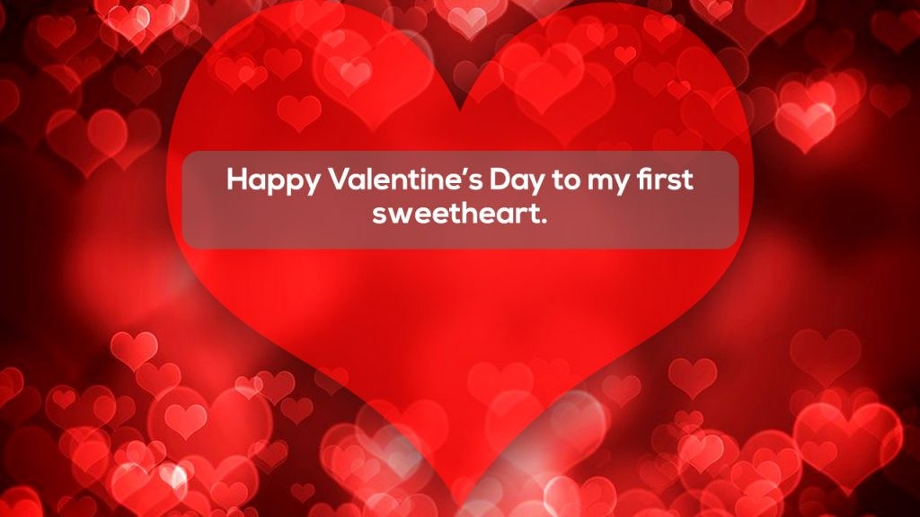 Happy Valentine's Day to my first sweetheart.