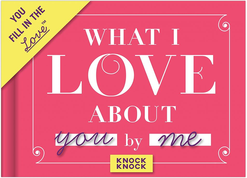 Knock Knock What I Love about You Fill in the Love Book Fill-in-the-Blank Gift Journal, 4.5 x 3.25-Inches valentine day for mom