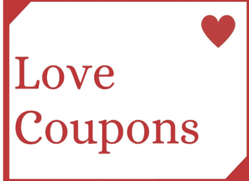 Love Coupons Valentines Day Gifts for Him