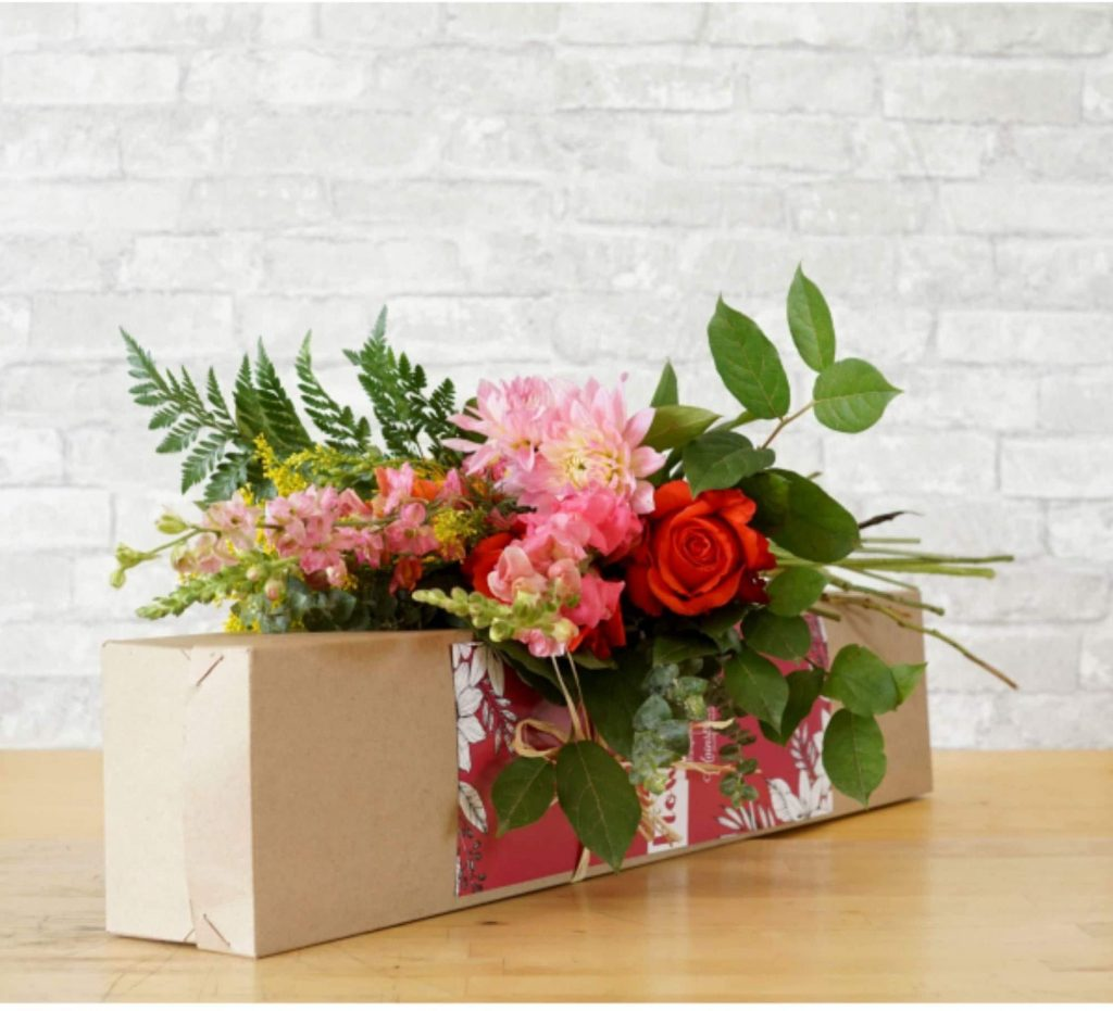 Mainstreet Flower Subscription Box Like valentine day for mom