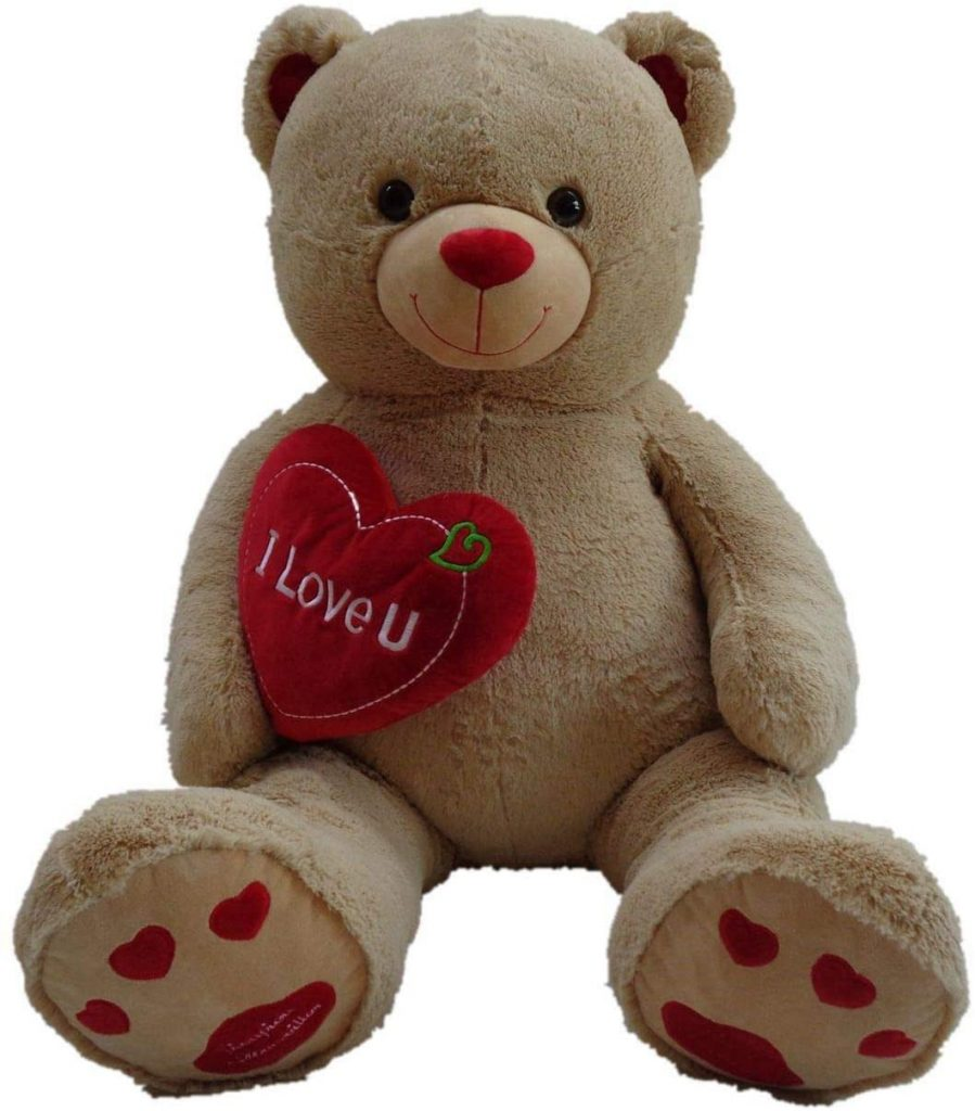 Pioupiou Jumbo 48 Plush Teddy Bear with I Love You Heart (Birthdays, Valentines Day, Engagements,, Mother's Day, Sweetest Day)