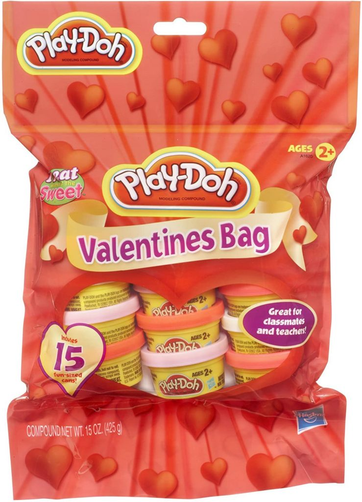 Play-Doh Valentines Bag Dough valentine day gifts for toddlers