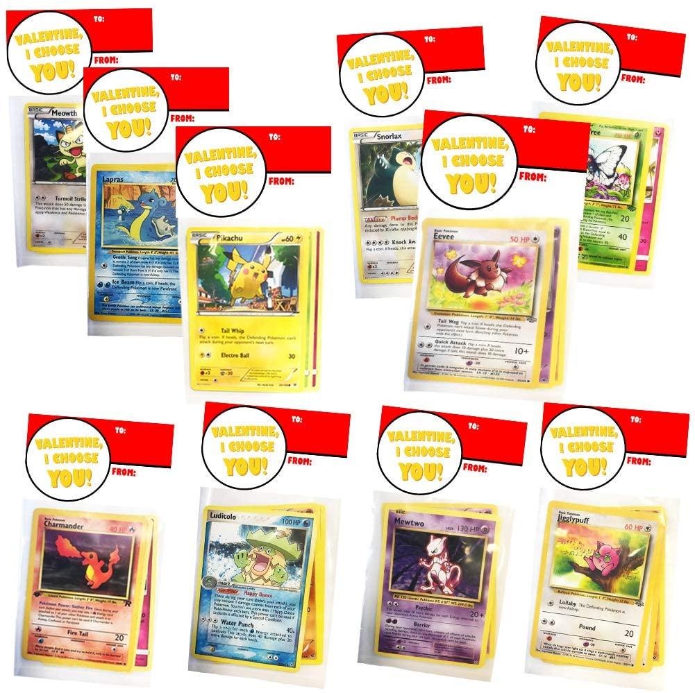 Pokemon Valentines Day Cards for Kids School Classroom Exchange