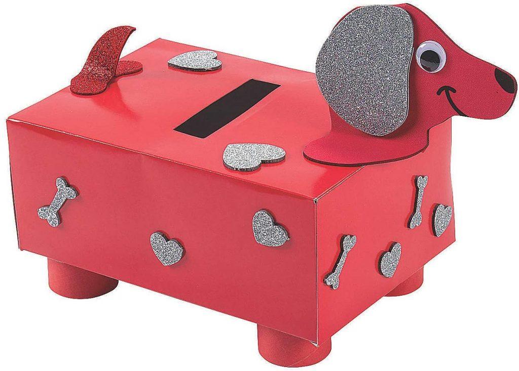 Puppy Valentine Card Box
