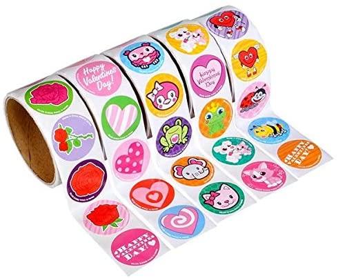 Rhode Island Novelty 5 Rolls Valentine day Stickers
