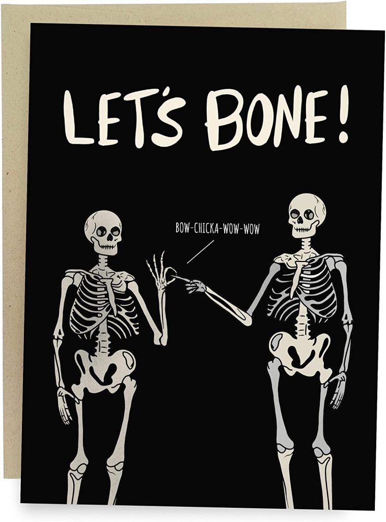 Sleazy Greetings Funny Let's Bone Anniversary Birthday Valentine's Day Card For Him Or Her