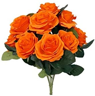 Sweet Home Deco 18 Princess Diana Rose Silk Artificial Flower Valentines Day 10 Stems 10 Flower Heads The Most Beautiful Roses for her