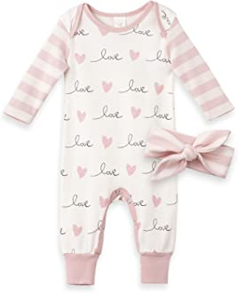 Tesa Babe Baby Girls Boys Clothes Valentines Outfit Girl and Boy Love Hearts XO Print