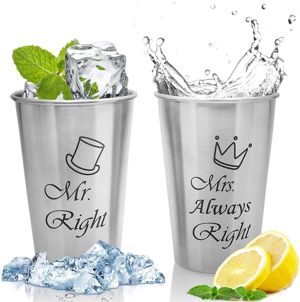 Unbreakable Love,Mr Right and Mrs Always Right Couple Mug, Valentines Wedding Gifts for Couple