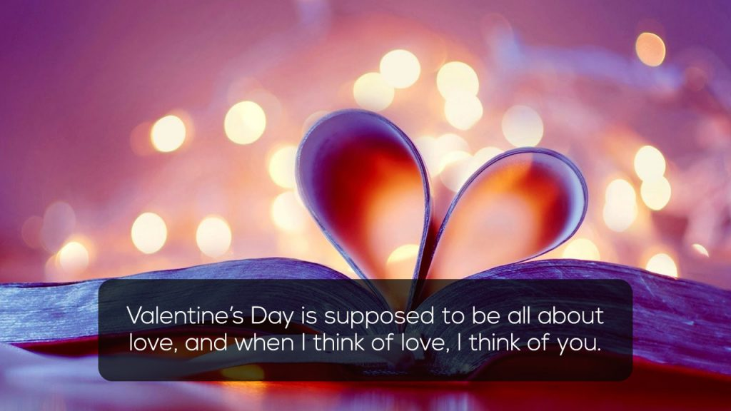 Valentine Day is supposed to be all about love