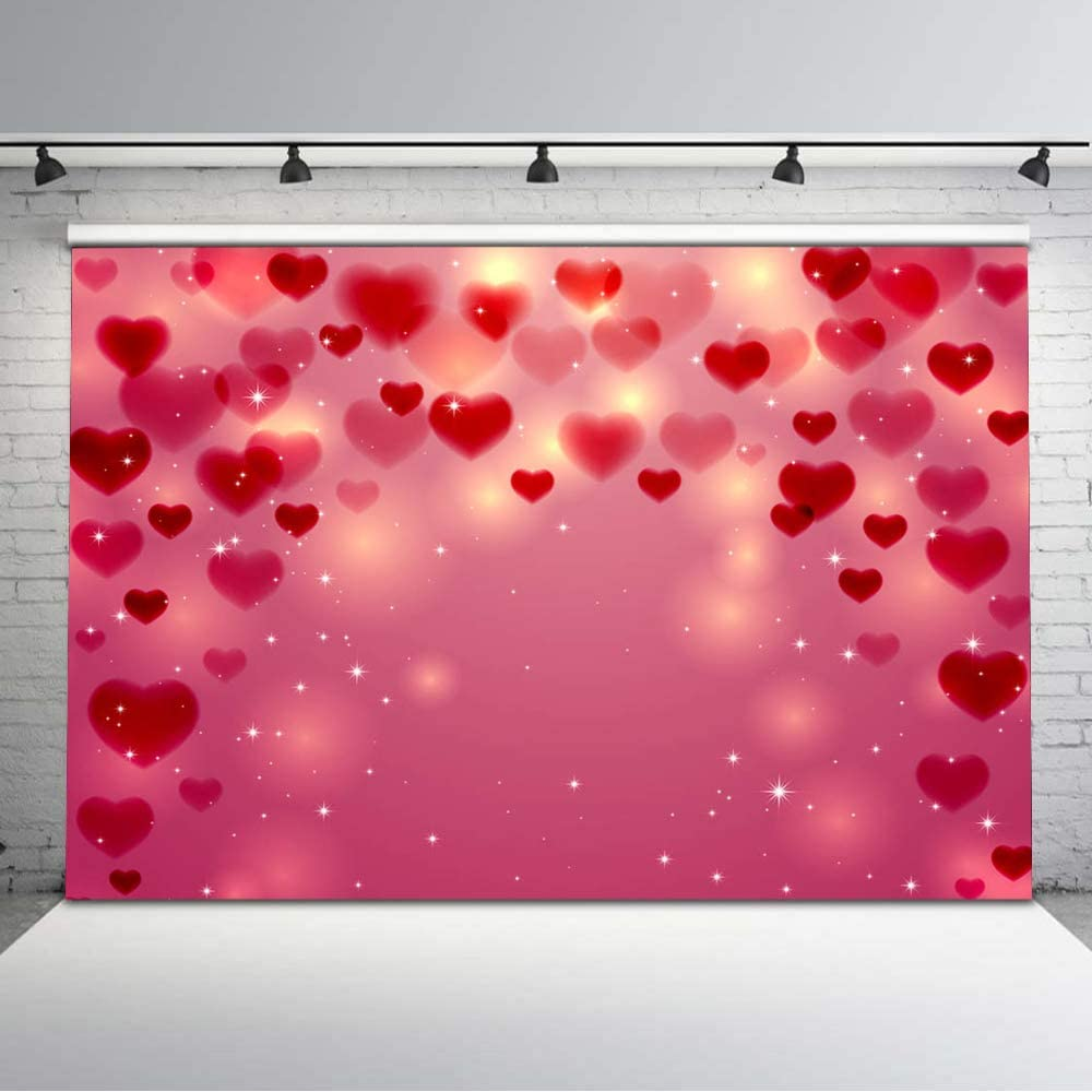 Valentine's Day Backdrop Pink Loving Heart Romantic