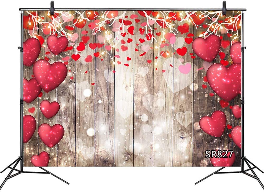 Vintage Rustic Wood Backdrop for valentine day