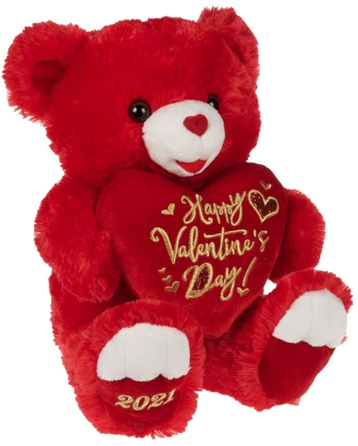 Way to Celebrate Valentine's Day 2021, Happy Valentine's Day, Red Teddy Bear 19 inch