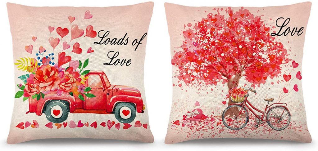 decorations YGEOMER Valentine's Day Pillow Covers
