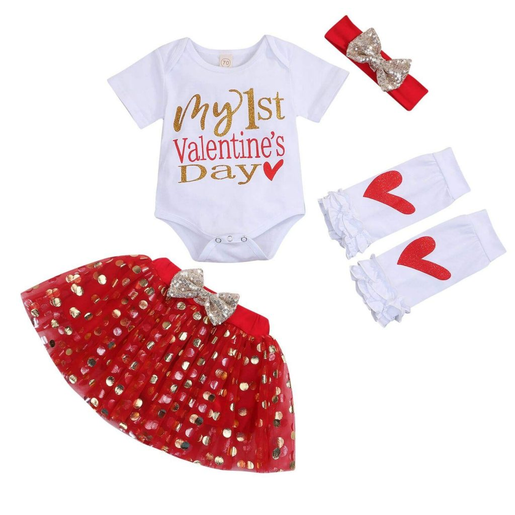 infant valentine day outfit for Baby Girls My First Valentine Skirt Set