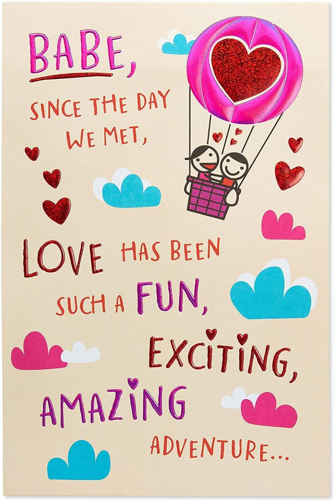naughty valentine day card American Greetings Funny Valentine's Day Card for Wife (Babe)