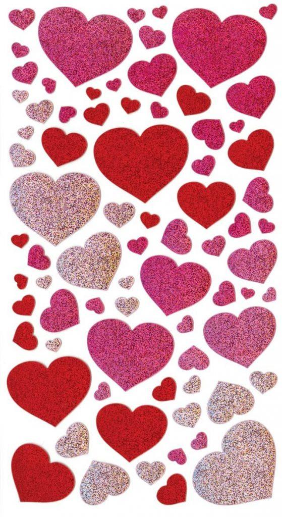 valentine day blissful hearts metallic sticker