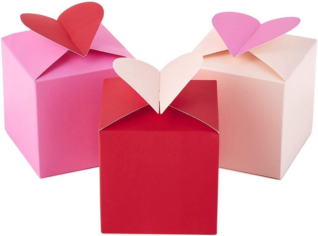 valentine day boxes Hallmark Paper Wonder 3 Small Valentines Gift Boxes
