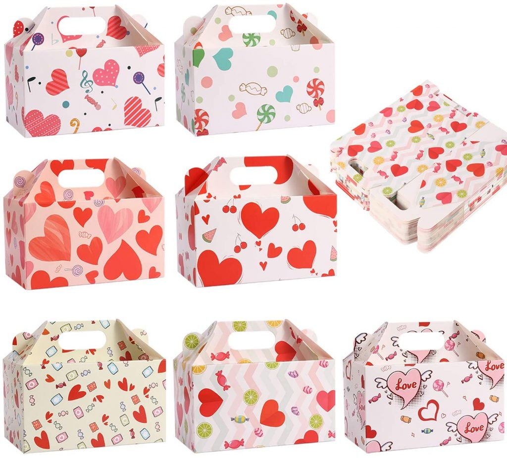 valentine day boxes Valentine's Treat Boxes Gift Bags