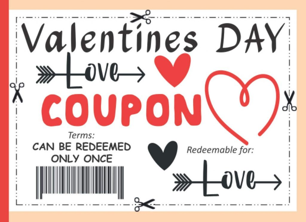 valentine day coupons for boyfriend Valentines Day Coupon Book Blank Coupon Book For Lovers