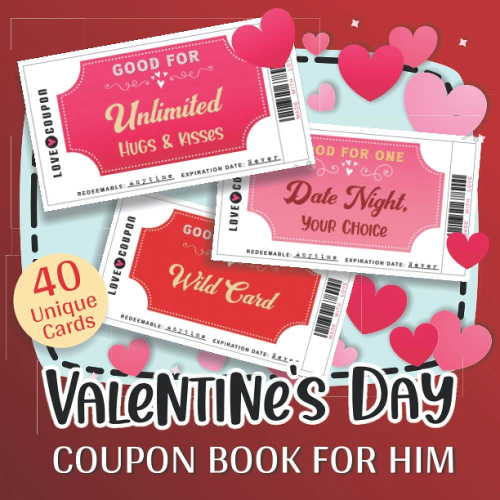 valentine day coupons for boyfriend Valentine's Day Coupon Book for Him Full-Color Fun and Romantic Vouchers for Lovers