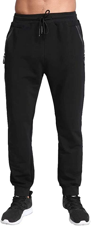 valentine day for guys Tansozer Men's Lightweight Joggers Casual Slim Sweatpants Track Pants with Zipper Pockets