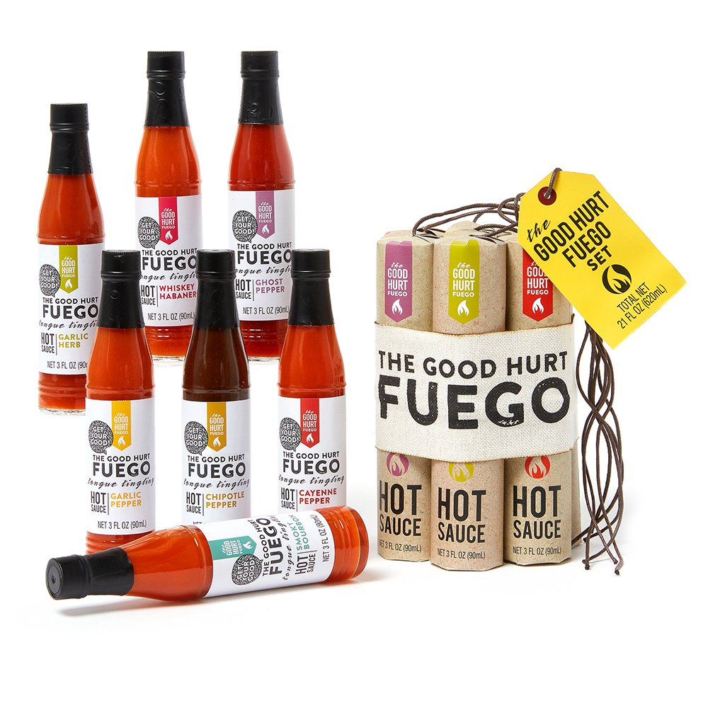 valentine day for guys The Good Hurt Fuego A Hot Sauce Gift Set for Hot Sauce Lover's