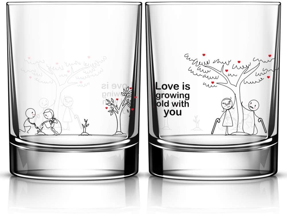 valentine day for guys glass
