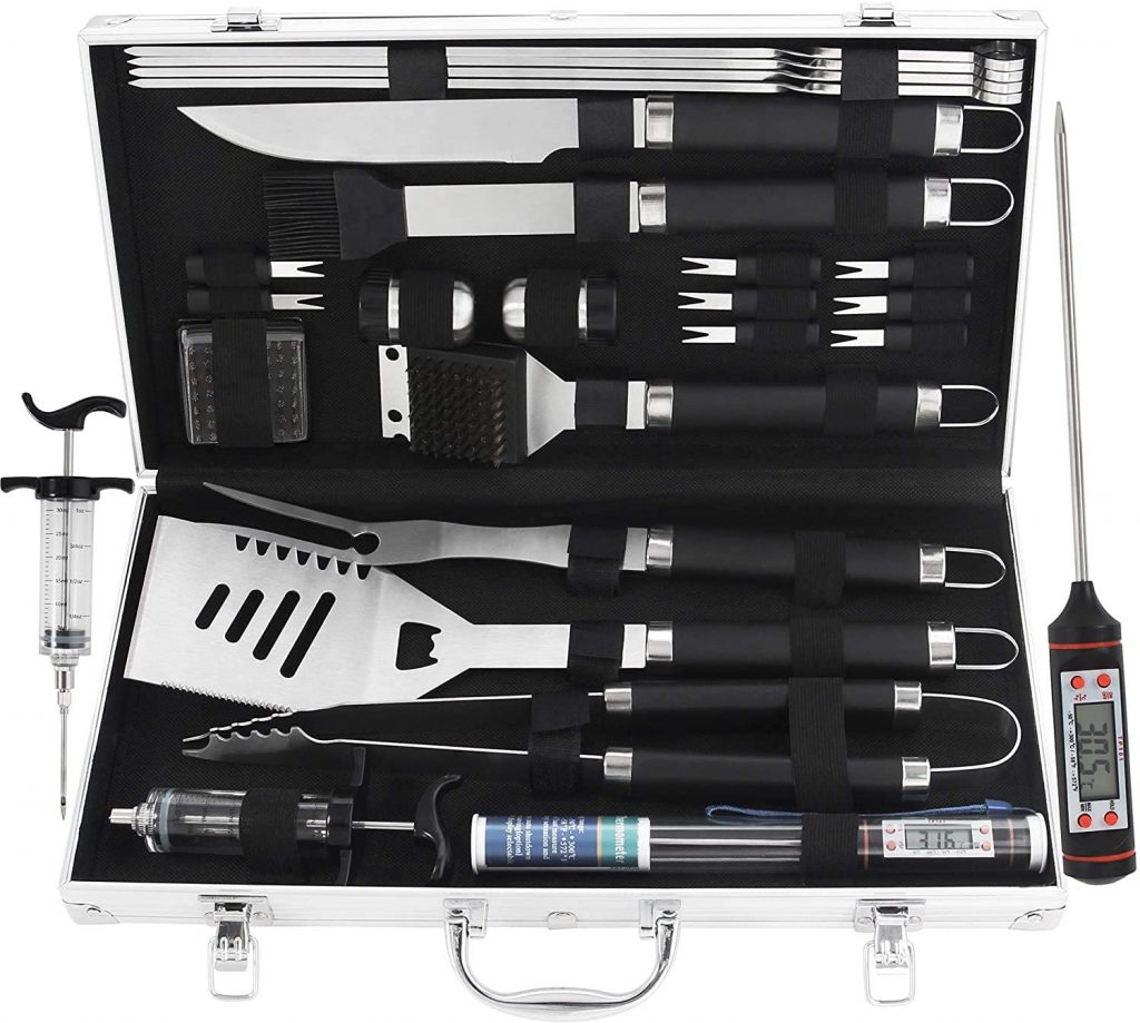 valentine day for guys grilljoy BBQ Grill Tools Set with Meat Thermometer and Injector