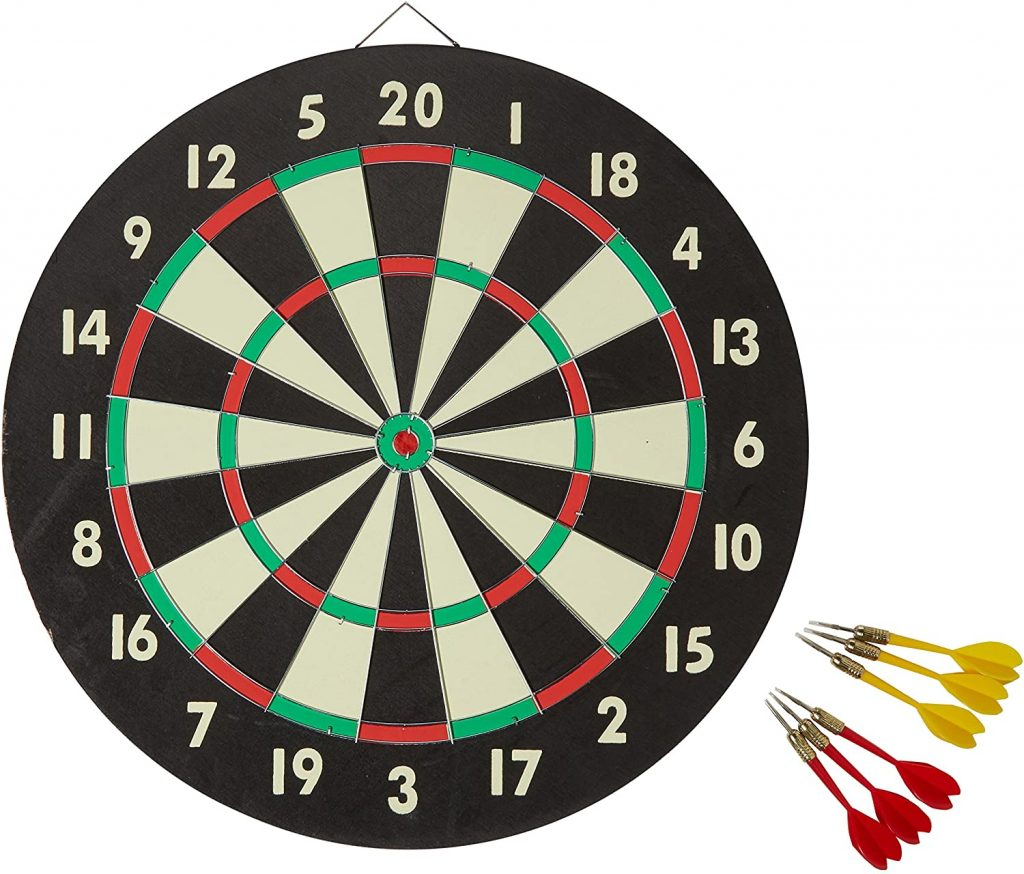 valentine day gifts for Dartboard Game Set with Six Included Brass Darts