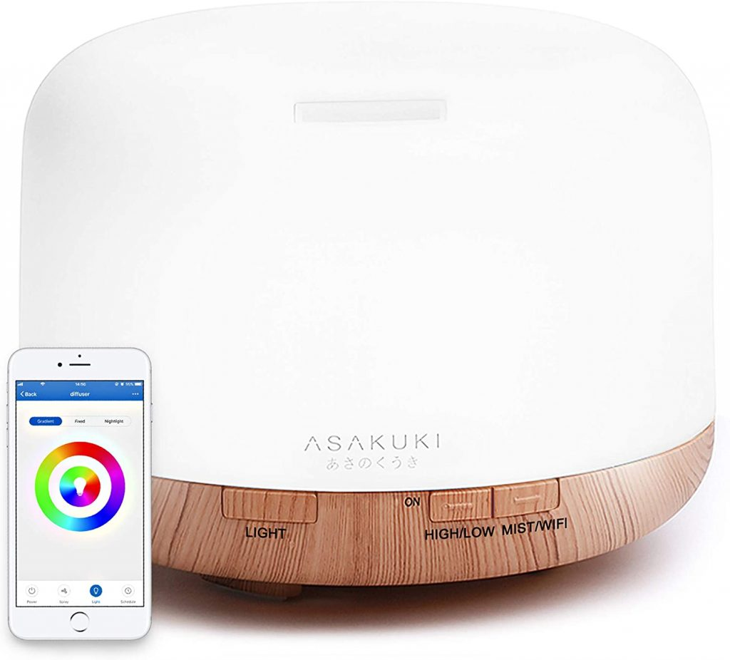 valentine day gifts for friends ASAKUKI Smart Wi-Fi Essential Oil Diffuser