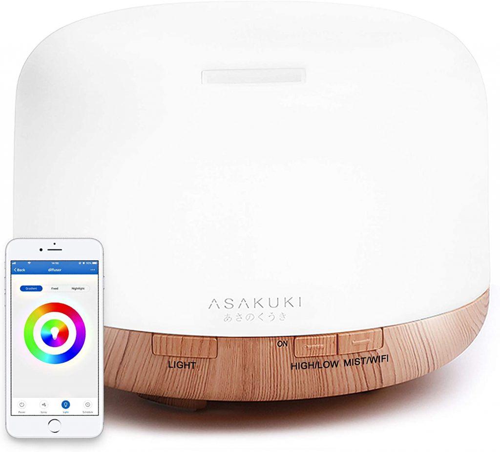 valentine day gifts for friends ASAKUKI Smart Wi-Fi Essential Oil Diffuser