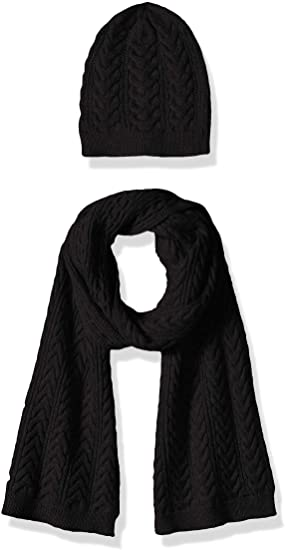 valentine day gifts for friends Amazon Essentials Women's Cable Knit Hat and Scarf Set
