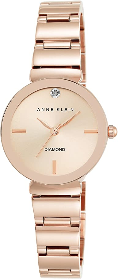 valentine day gifts for friends Anne Klein Women's Diamond-Accented Bracelet Watch