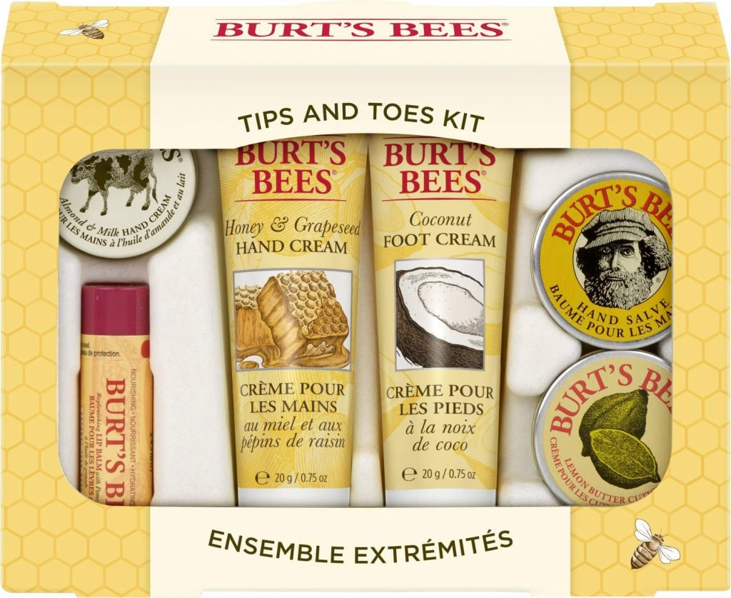valentine day gifts for friends Burt's Bees Tips and Toes Kit Gift Set