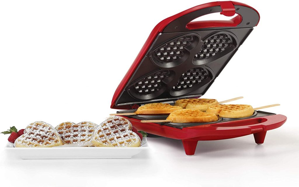 valentine day gifts for girlfriend Non-Stick Heart Waffle Maker